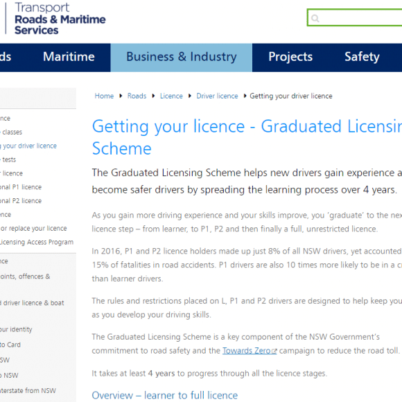 Changes to How Student drivers get their licence in NSW