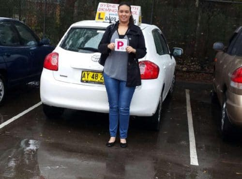 Congratulations on passing your test Emily