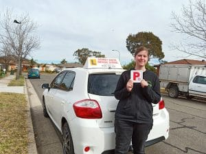 Happy students passing their driving test in Liverpool NSW
