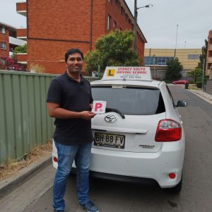 Driving test pass for Eswaran Rajamani